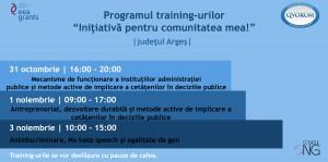 """PROGRAMUL """"Inițiativă pentru comunitatea mea!"""" – proiect destinat elevilor și studenților din Argeș"""